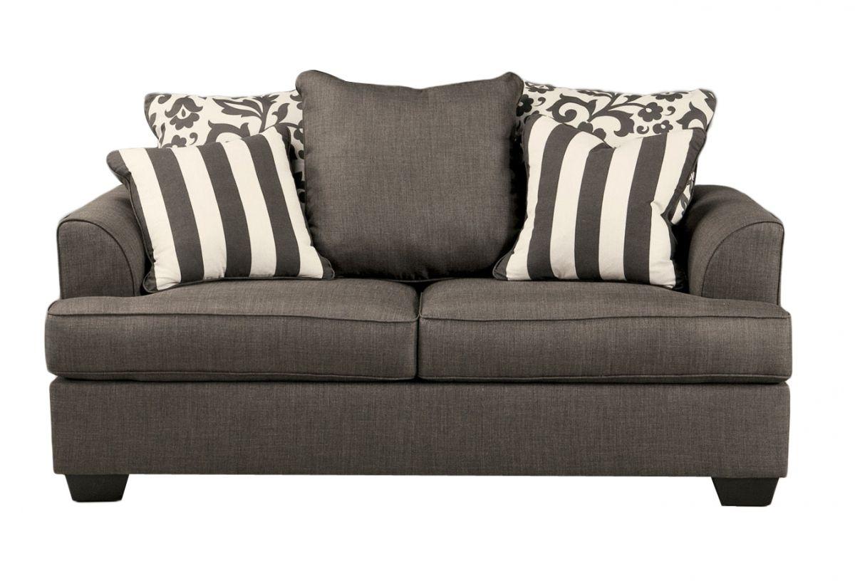 Ashley Furniture Levon Charcoal Sofa Love Seat Living Room