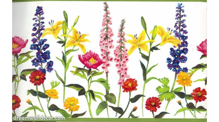 english garden wallpaper borders | Home  Colourful ...