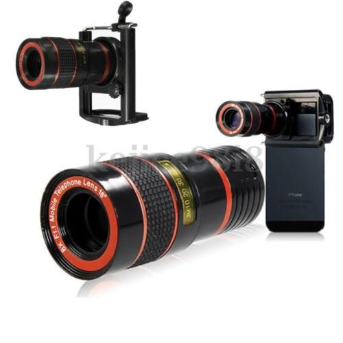 8x-Zoom-Optical-Camera-Telephoto-Telescope-Lens-Holder-For-Mobile-Cell-Phone-UK