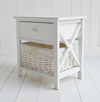 Small White Bedside Cabinet Two Drawer Table Bedroom Furniture