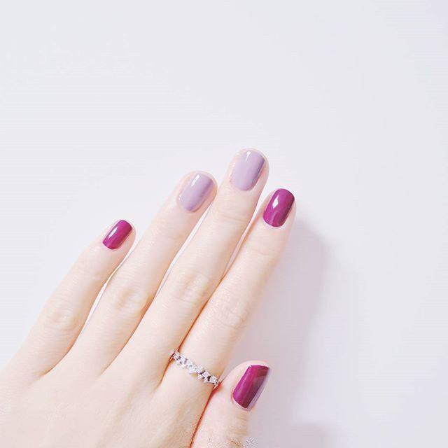 Berry And Lavender Nails Nail Designs Pinterest Lavender Nails