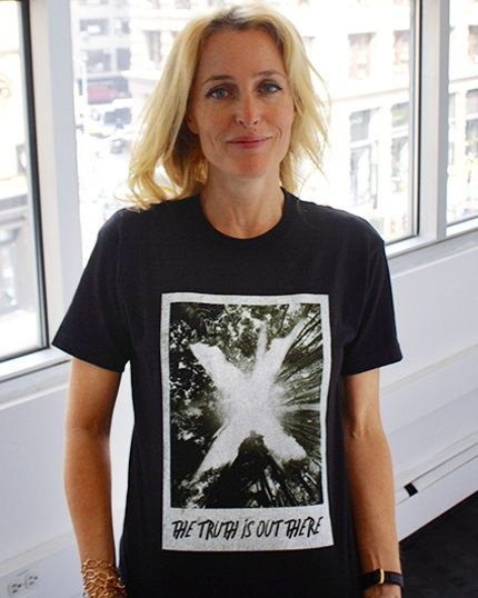 Get Gillian Anderson's t-shirt - with proceeds supporting tribal peoples worldwide - but only for 1 more day!