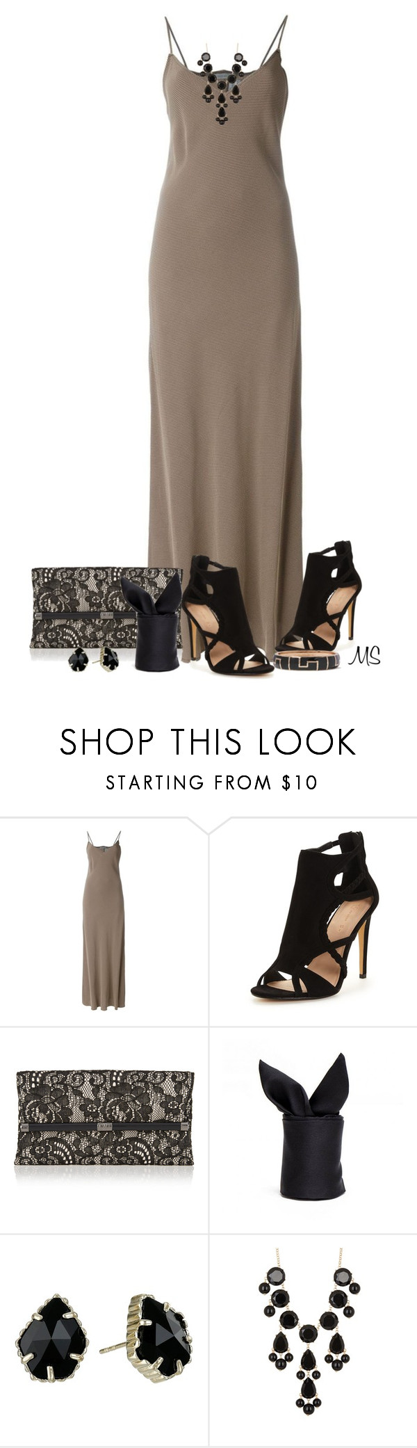 """Maxi"" by michellesherrill ❤ liked on Polyvore featuring DuÅ¡an, Diane Von Furstenberg, Kendra Scott, Natasha Accessories and Kenneth Jay Lane"
