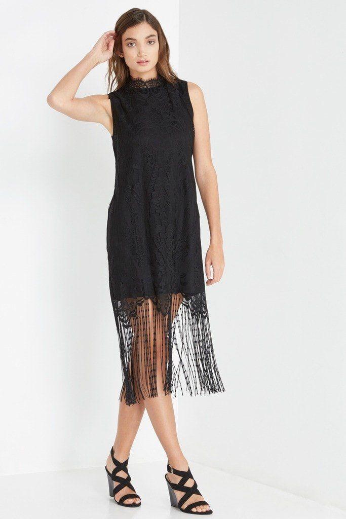 3d2df112a77f Black Monet Lace Shift Dress