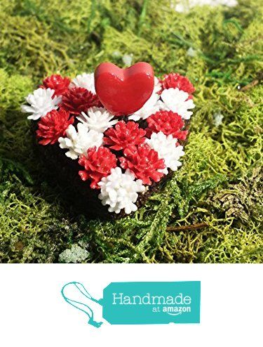 Fairy garden miniature heart shaped flower bed. Red and white Valentine's Day miniature. Great for dollhouse or terrarium. from Puppy Love Miniature http://www.amazon.com/dp/B01AIR1T72/ref=hnd_sw_r_pi_dp_bLdMwb0BVRHN8 #handmadeatamazon