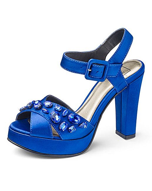 038e165bf4fb Sole Diva Jewelled Platforms EEE Fit