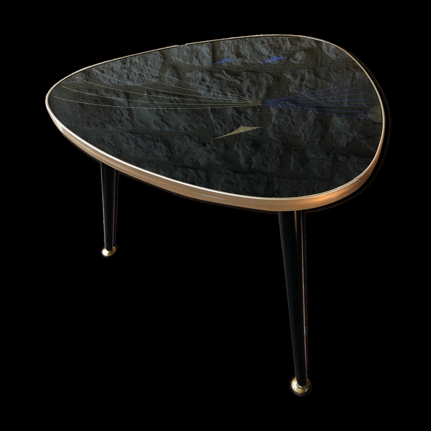 Table Basse En Formica table basse tripode vintage plexiglas et formica, années 60