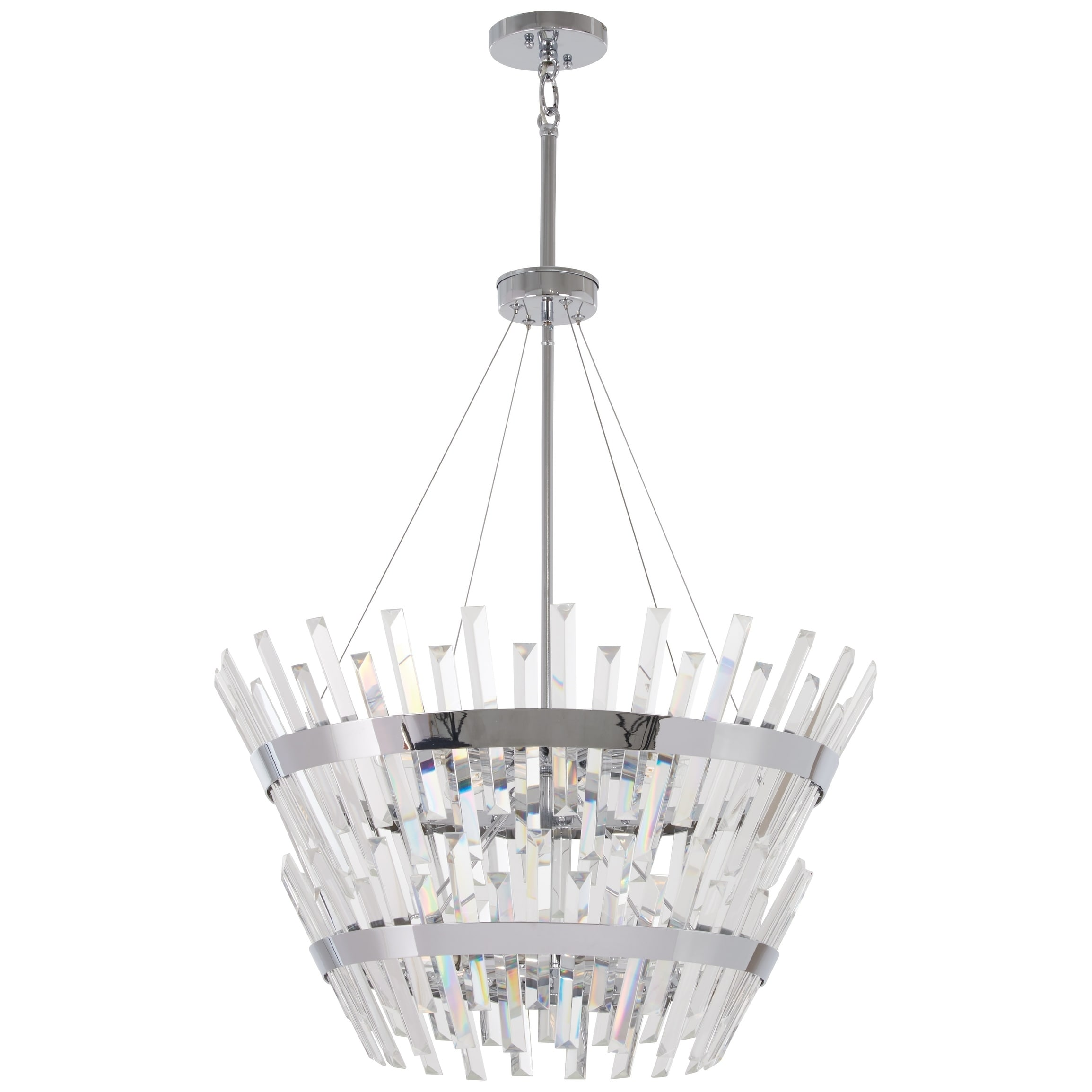 Echo Radiance Chrome 14 Light Chandelier By Minka Lavery Chandelier Lighting Chandelier Glass Shades