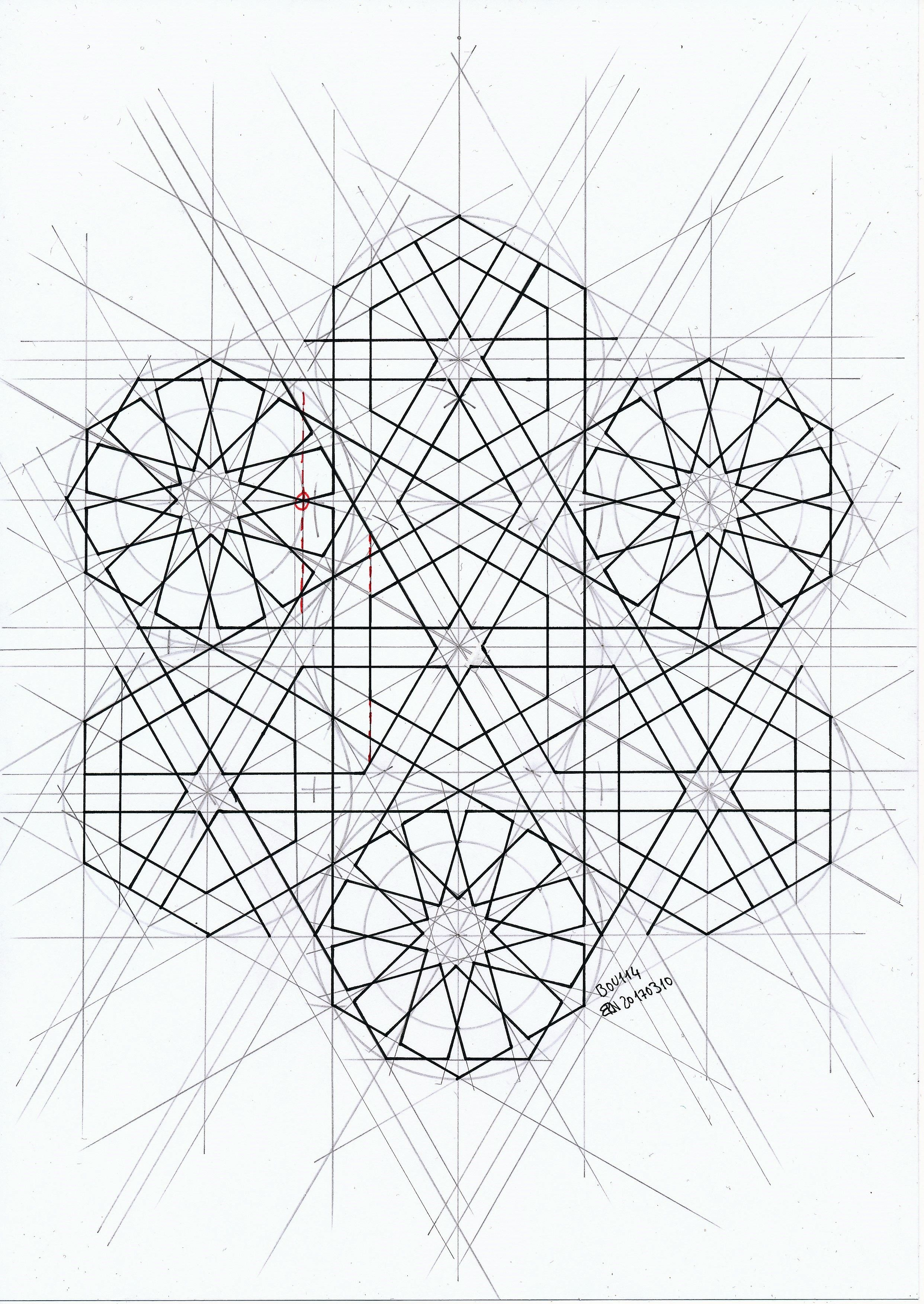 Geometric Islamic Art Drawing