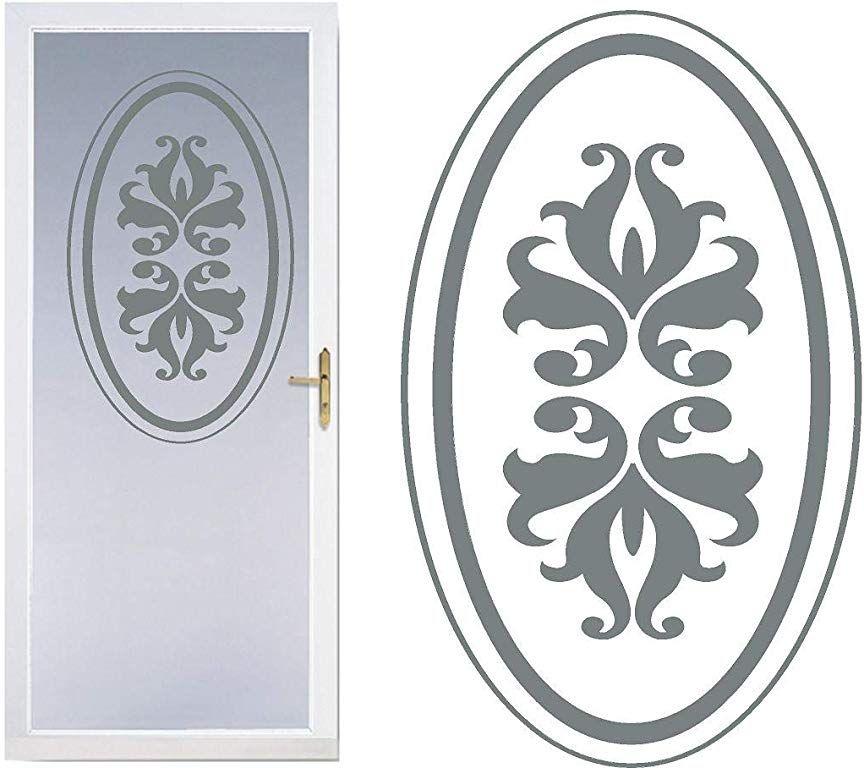 Circle Diy Etched Glass Vinyl Privacy Film Glass Door Decals Sliding Front Shower Door Decal Door Stickers Window Etched Glass Vinyl Glass Etching Shower Doors