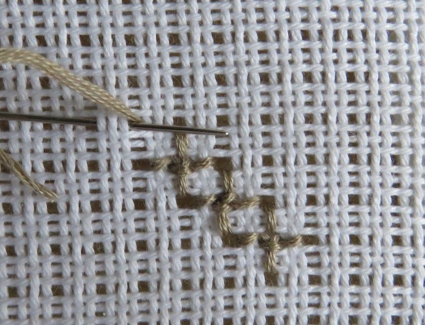 Photo Tutorial Proper Order For Stitching The Rose Stitch In