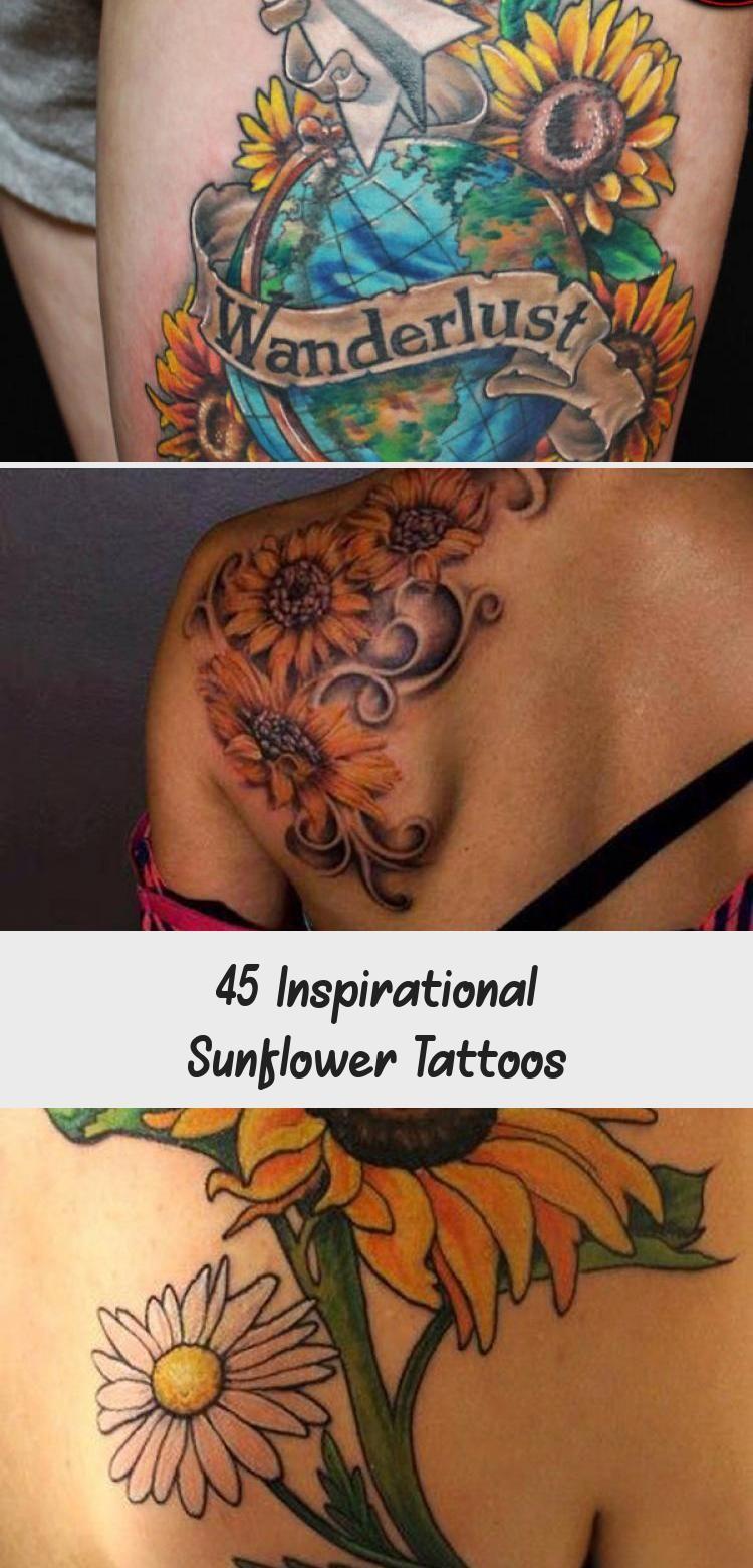 Photo of sunflower tattoo – 45 Inspirational Sunflower Tattoos #sunflowertattoosIdeas #su…
