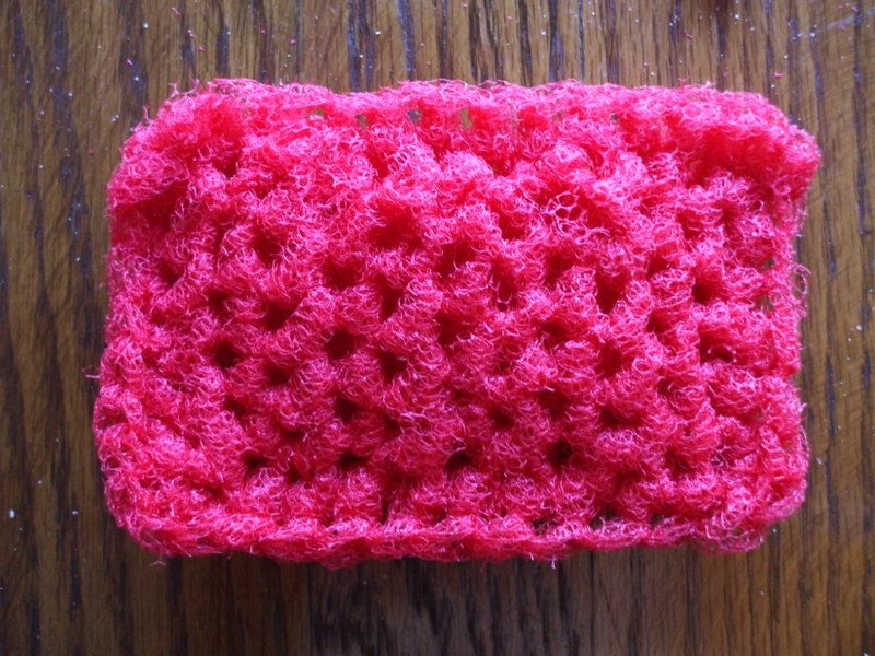 square tulle croched scrubbies | ... Treasures Of My Heart: How to ...