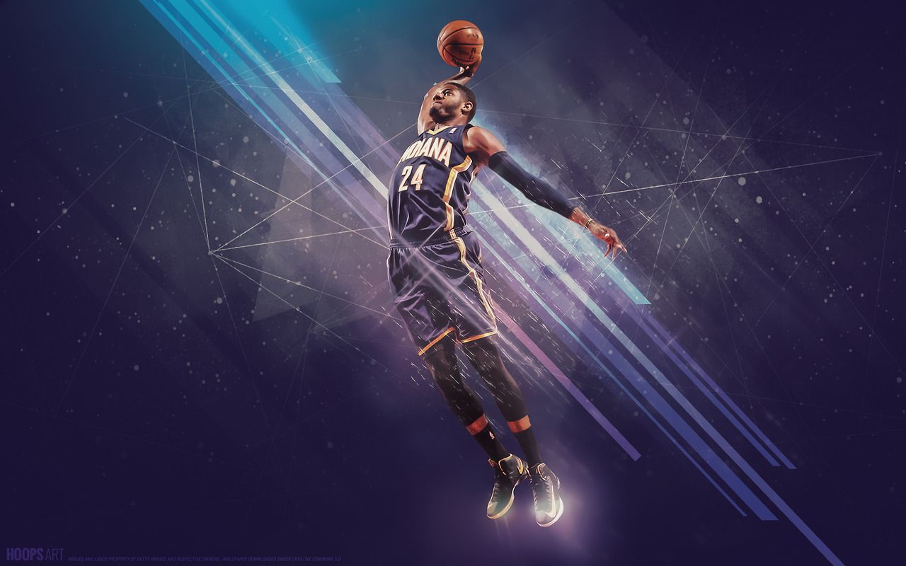 Indiana Pacers, Paul George - NBA wallpaper from HoopsArt.com