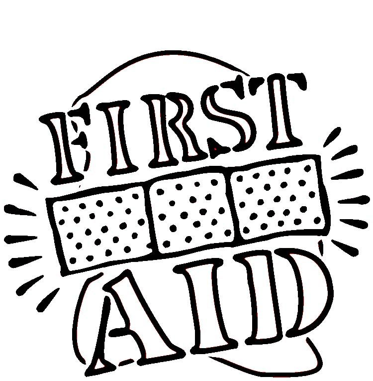 First Aid Coloring Page Jpg 750 765 Pixels Girl Scouts Cadettes Brownie Girl Scouts Girl Scout Brownie Badges