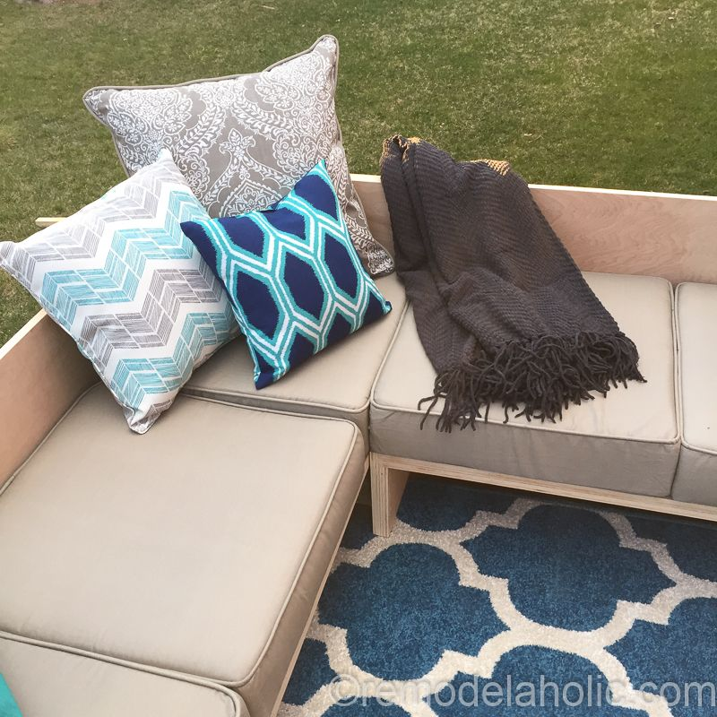 plywood pretty diy outdoor sectional sofa tutorial building plan rh pinterest com