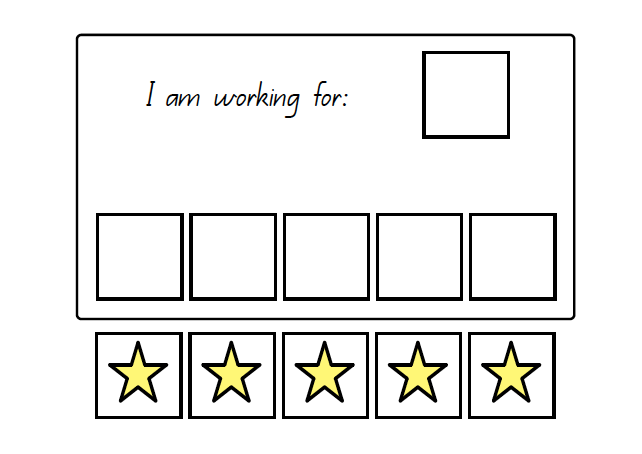 I Am Working For Token Board Printable