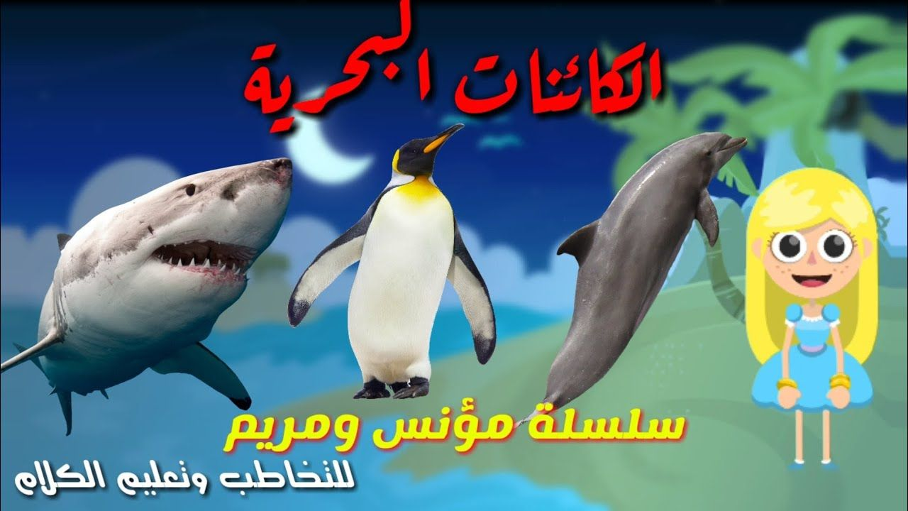 الكائنات البحرية مع مريم من سلسلة مؤنس ومريم للتخاطب وتعليم النطق للاطفال Pets Fish Pet Animals