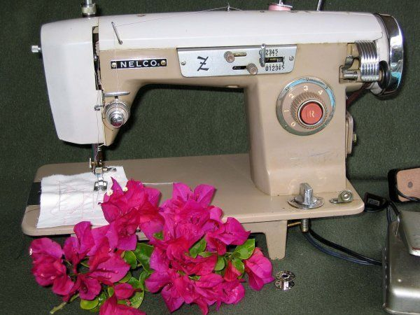 Strong Nelco Model SZ Heavy Duty Zigzag Sewing Machine Vintage Beauteous How To Thread A Vintage Nelco Sewing Machine