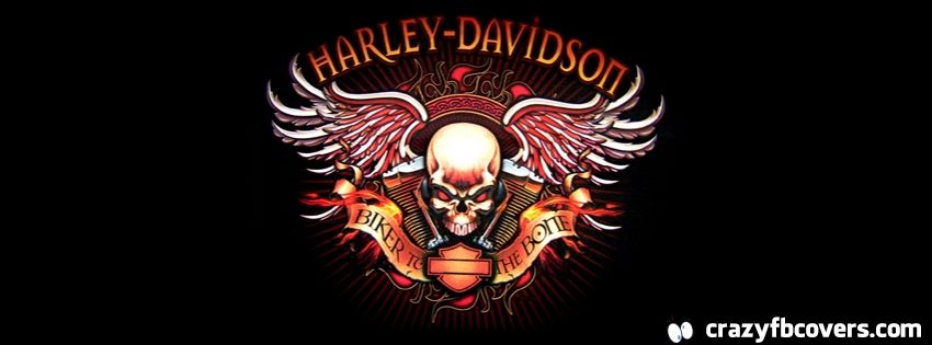 Harley Davidson Biker To The Bone Facebook Cover Facebook Timeline Cover Photo Fb Cover Facebook Cover Harley Davidson Logo Logo Facebook