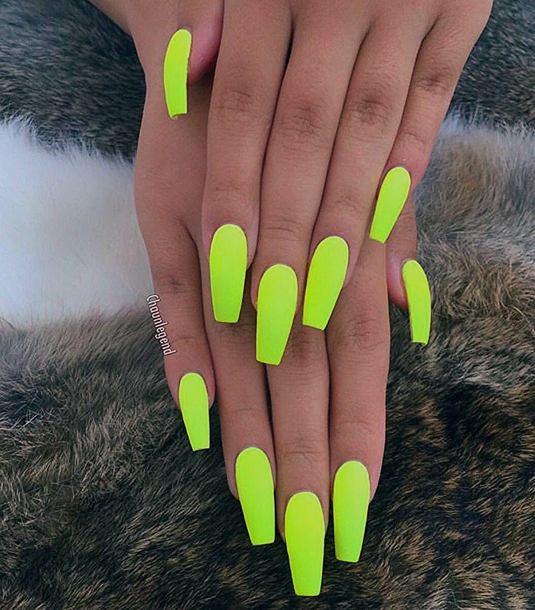 #neon nails neue #trend nail art inspirierende ideen