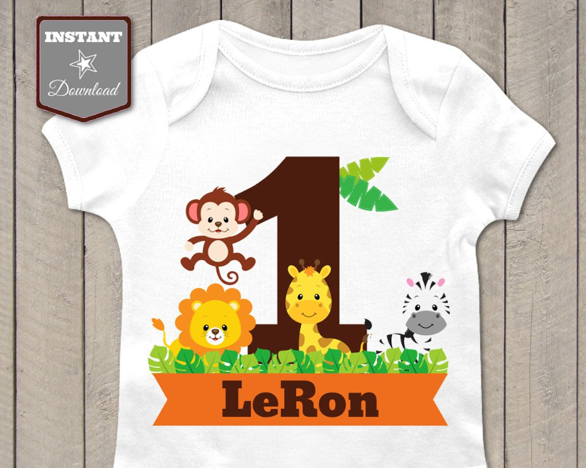 Iron On T-Shirt Transfer Print Jungle Safari Giraffe