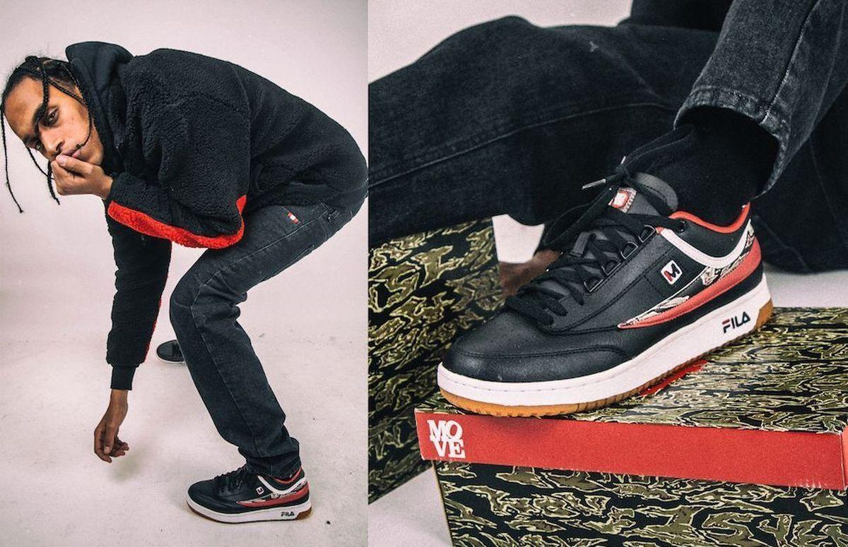"""T1-Mid - Cooler Jubiläums-Sneaker: Sportartikelhersteller Fila hat sich mit dem italienischen Online-Shop Move zusammengetan und einen Sneaker rausgebracht. Anlass ist das 15-jährige Jubiläum von Move. Als Ergebnis zeigen die Brands nun den Sneaker """"Fila T-1 Mid""""."""