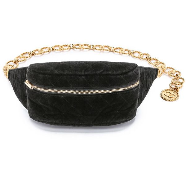 6d246cce3dc3f2 What Goes Around Comes Around Vintage Chanel Velvet Waist Pouch ($2,125) ❤  liked on