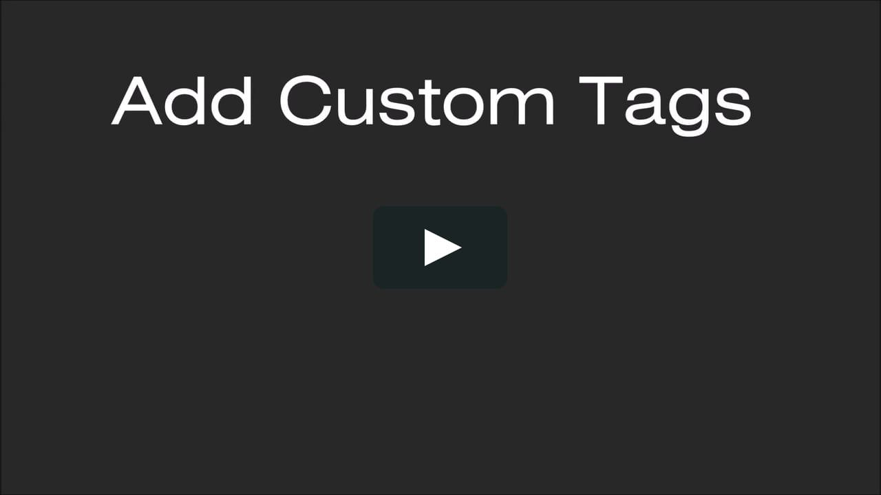 Tagging Video Clips on EDGE Instant Replay Custom tags
