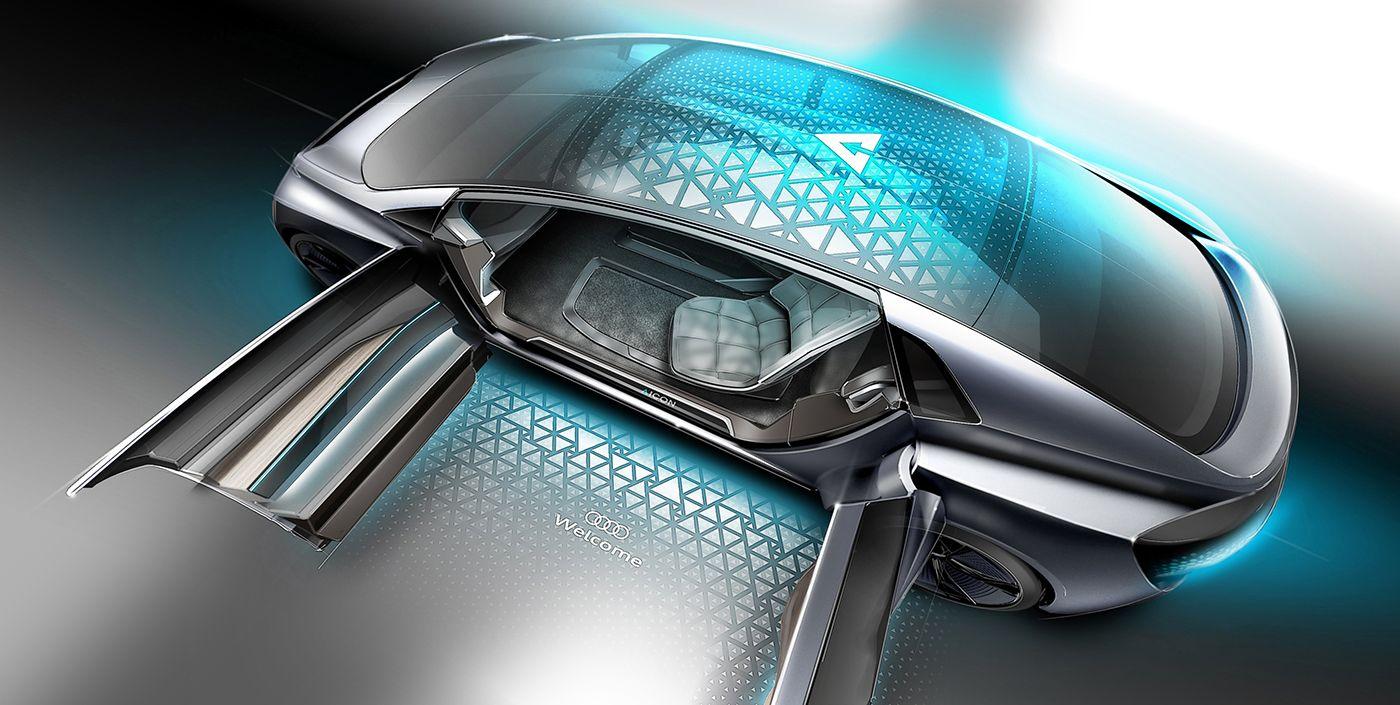 Audi Aicon Concept Sketches Pinterest