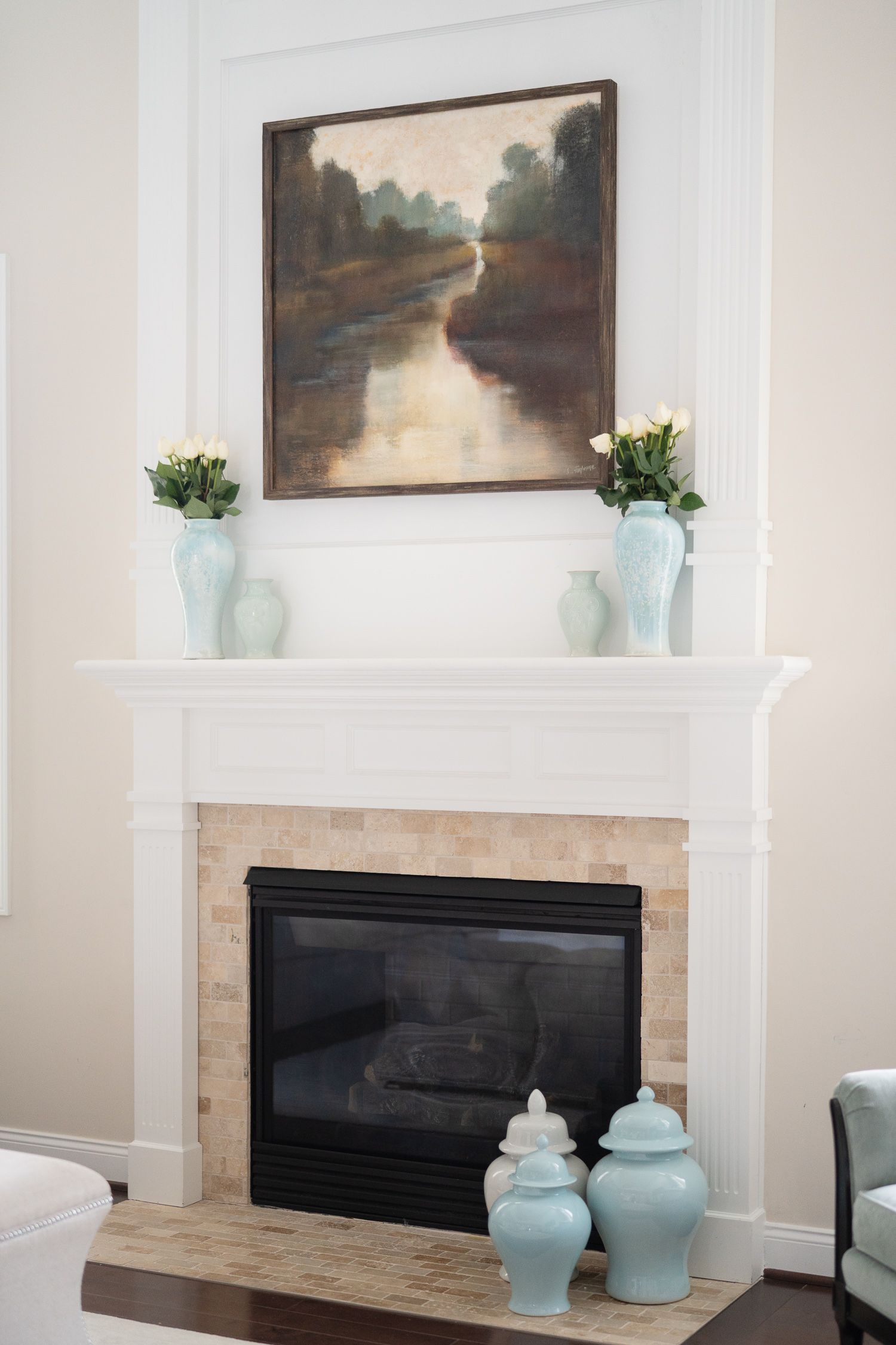 Living room reveal with crypton home fabrics life well loved