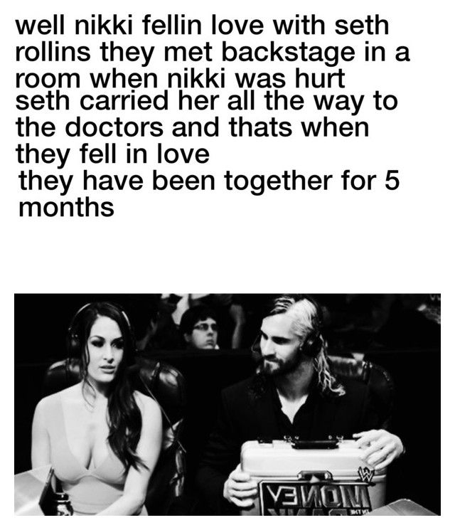 """seth rollins and nikki bella"" by thenikkibella1 ❤ liked on Polyvore featuring beauty"