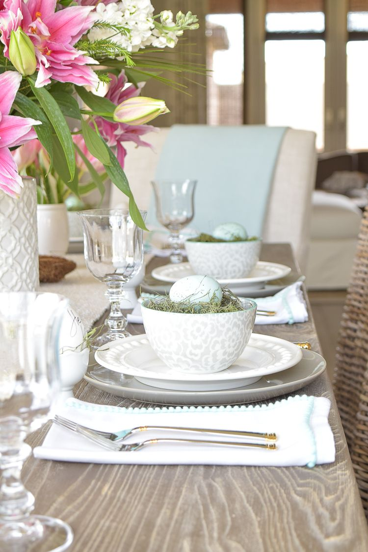 Casual Elegant Easter Table Scape