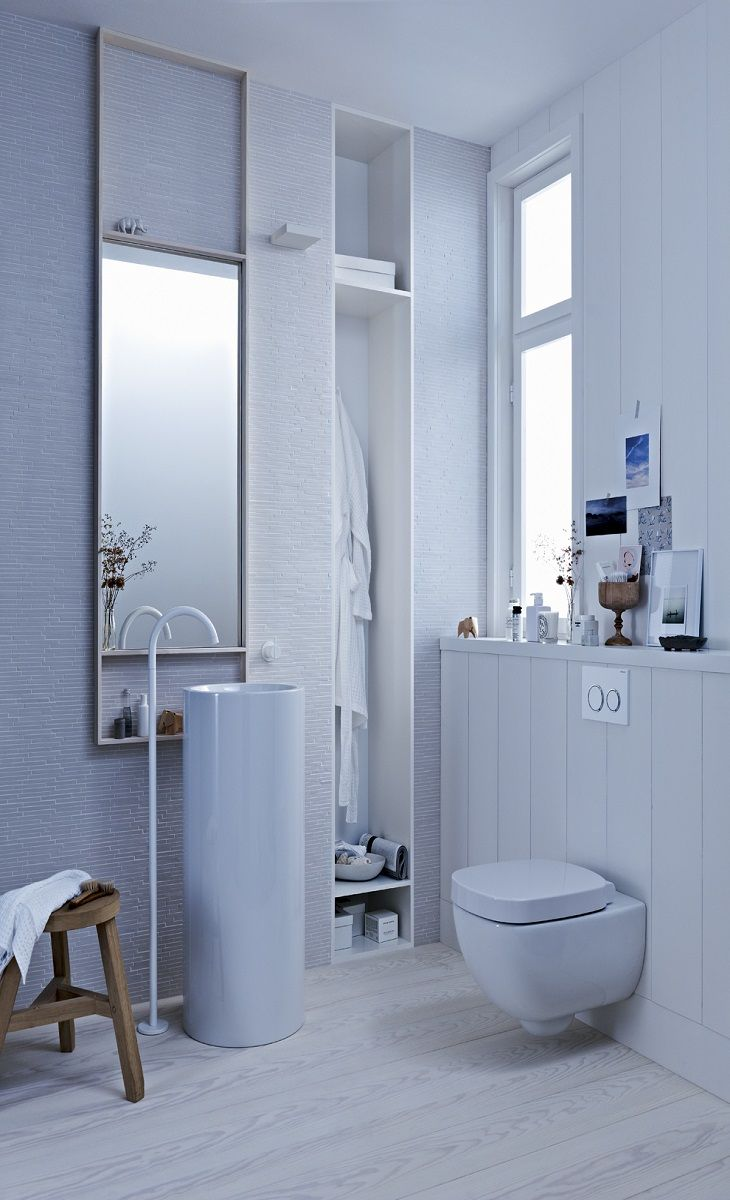 All White Clean Lines A Geberit Wall Mounted Toilet And