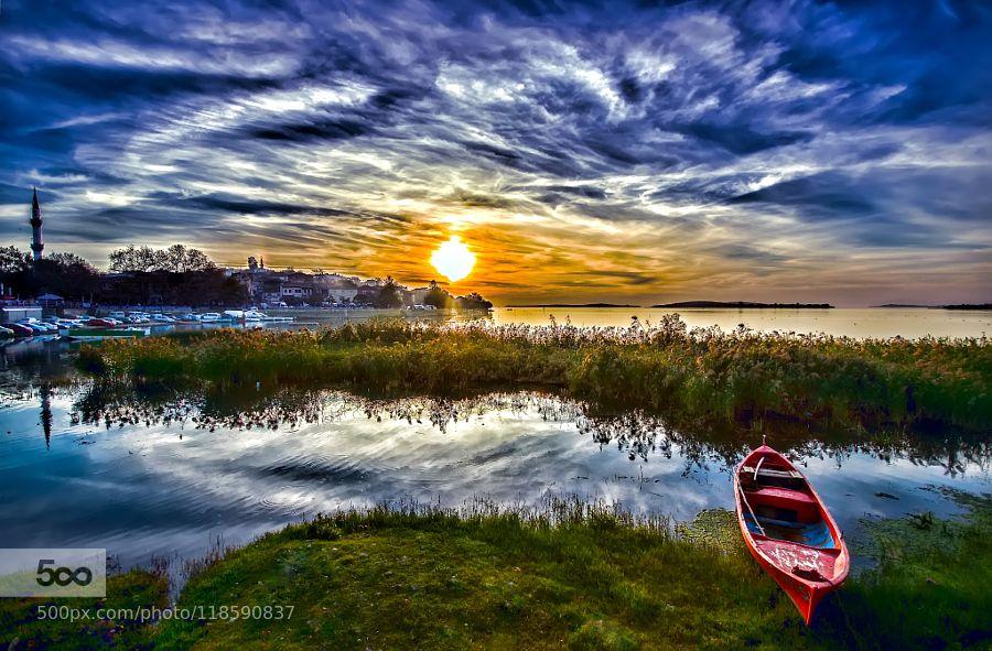 sunset - Pinned by Mak Khalaf Landscapes gölmanzarasunsettürkiye by omer72