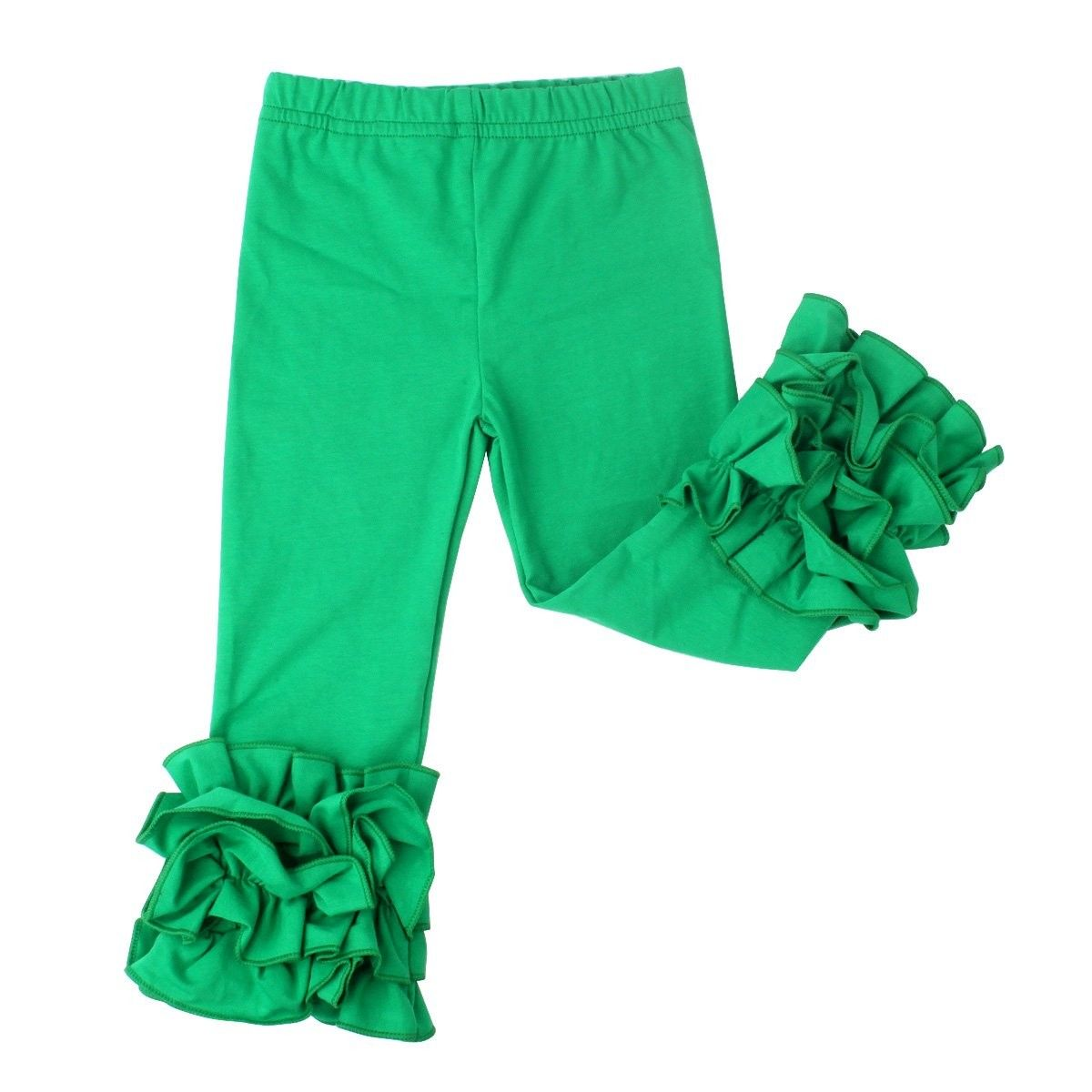 dec8066538a0d Little Girls' Ruffle Leggings Baby Toddler Solid Color Flower Pants - Green  - CU1898XTQ6N - Girls' Clothing, Leggings #Leggings #Girls' #Clothing # #  ...