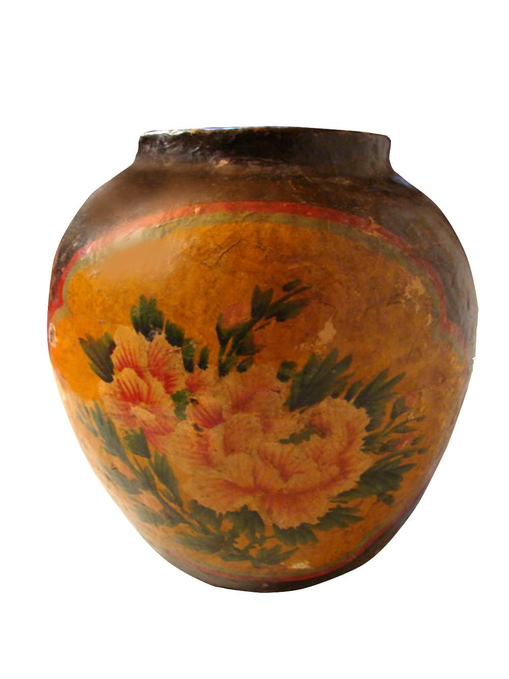 Antiques chinese papier mache vase circa 1890s dimensions 16 antiques chinese papier mache vase circa 1890s dimensions 16 reviewsmspy