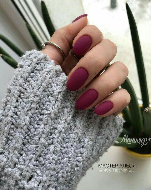 70 Trendy Burgundy Nails Designs Ideas You Definately Have to Try is part of nails - Burgundy nail art designs have become people's favorite  Burgundy color has become one of the most popular colors  Women who choose this color do not want to have bright and gorgeous nails, but want to have classic and sexy designs  The burgundy nail