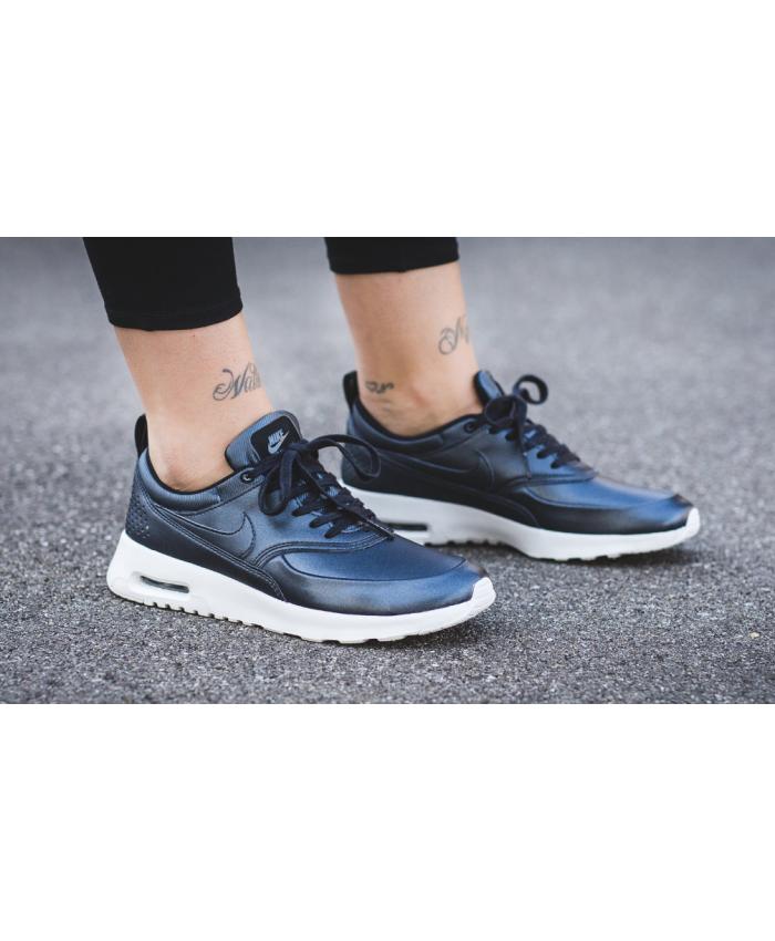 a7fb36cd0006 Nike Air Max Thea Metallic Royal Blue Trainer