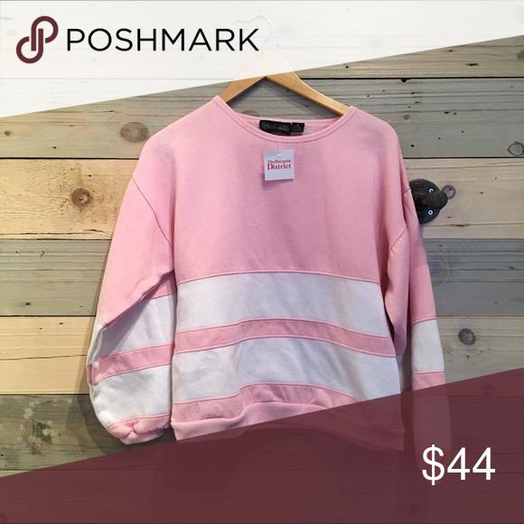 Vintage pink striped sweatshirt M Good vintage condition Vintage Tops Sweatshirts & Hoodies