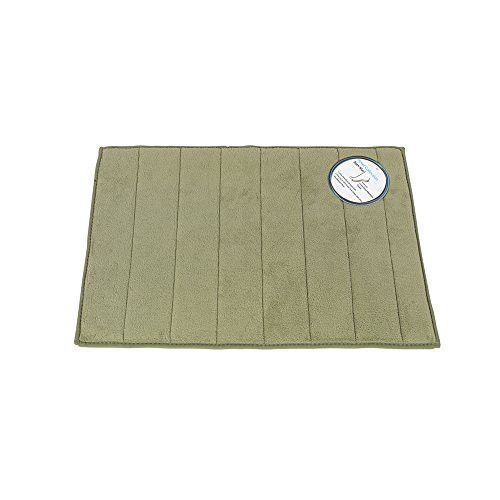 Park Avenue Deluxe Collection Park Avenue Deluxe Collection Medium-Sized Memory Foamed Bath Mat in Sage