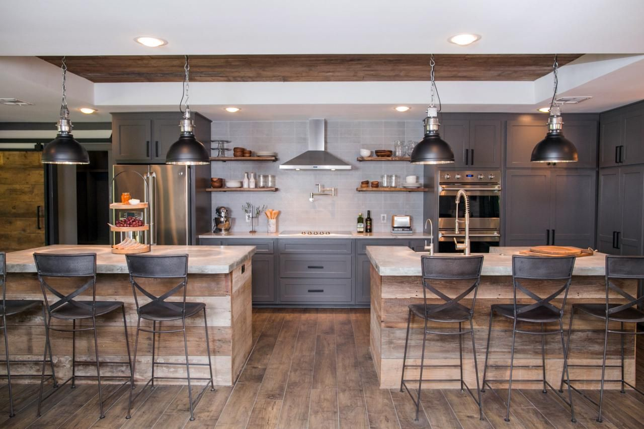 Fixer upper kitchens with dark cabinets - Bachelor Pads