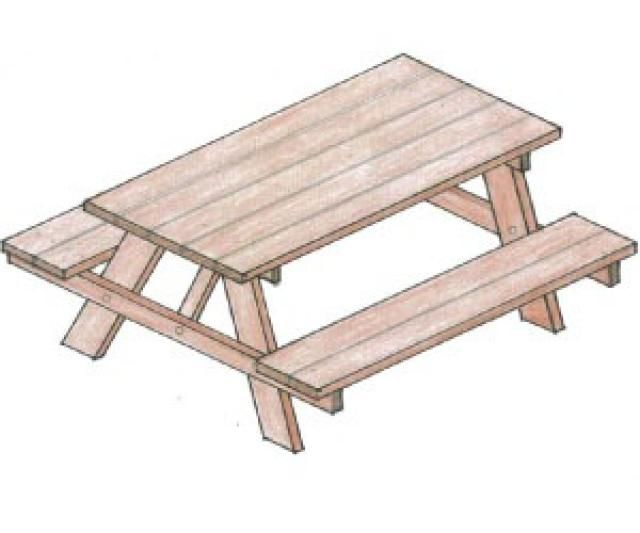 Build Yourself A Picnic Table With One Of These 14 Free Plans: Free Picnic  Table