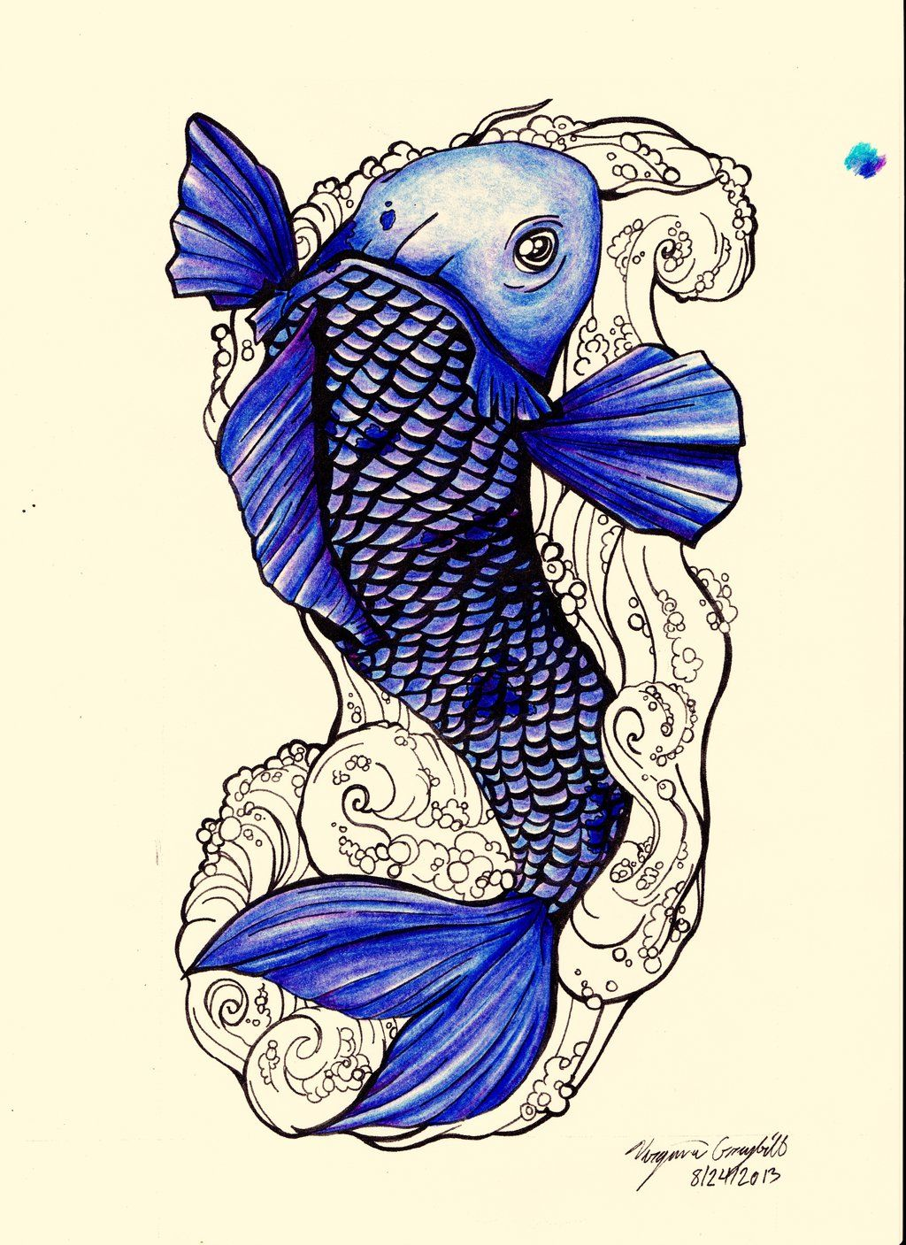 Designs interfaces tattoo design 2013 2015 ginniegii my for Blue koi fish meaning