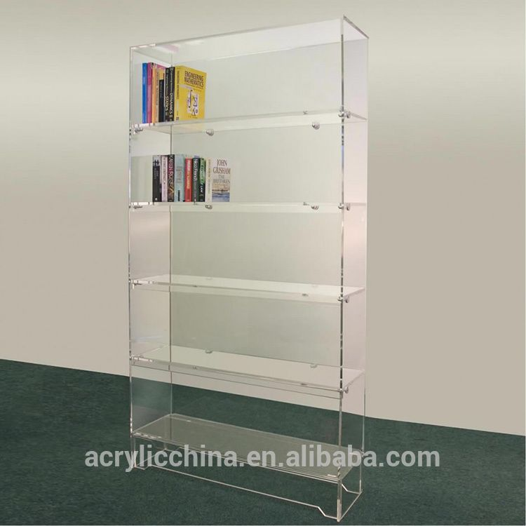 Free Standing Acrylic Shelves Transparent Lucite Acrylic Jpg 750 750 Pixels Acrylic Furniture Acrylic Bookcase Acrylic Bookshelf