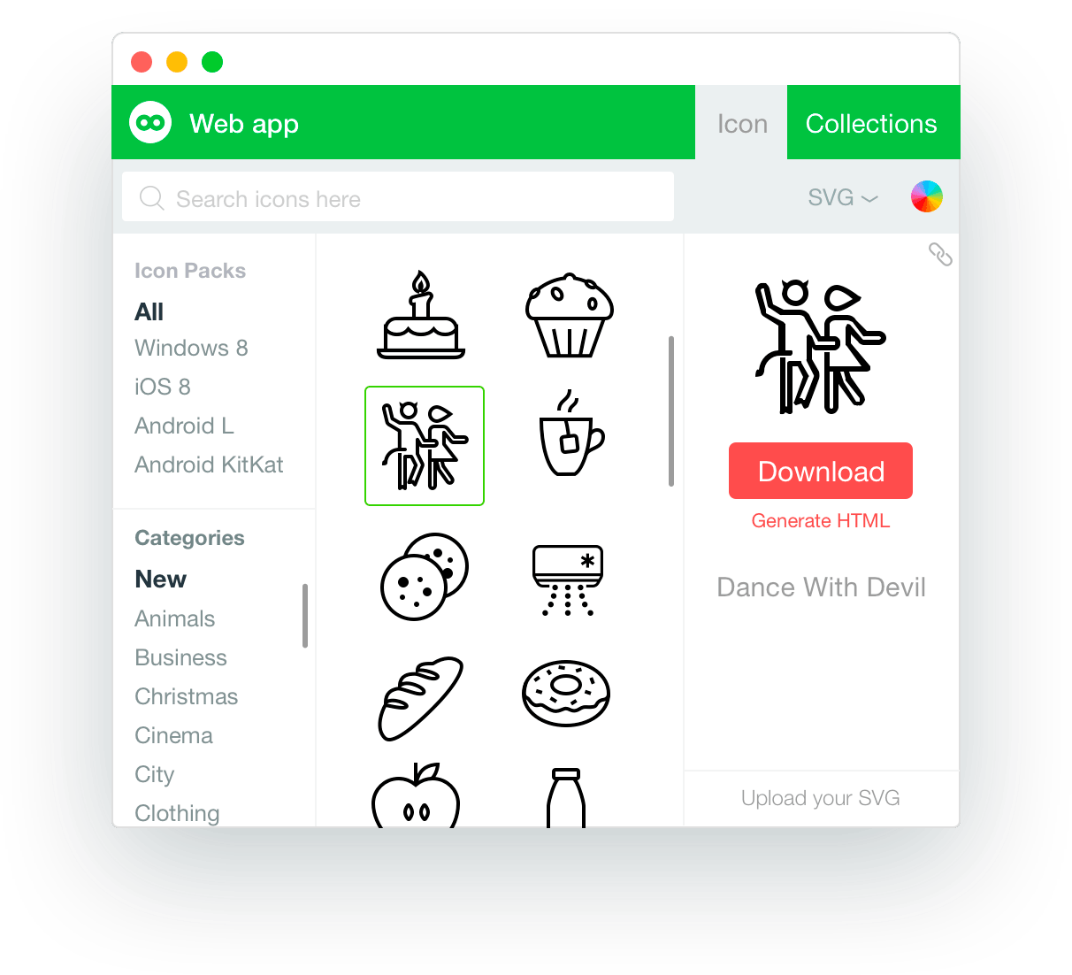 Free download of 9700+ icons in Windows 8, iOS 8 and