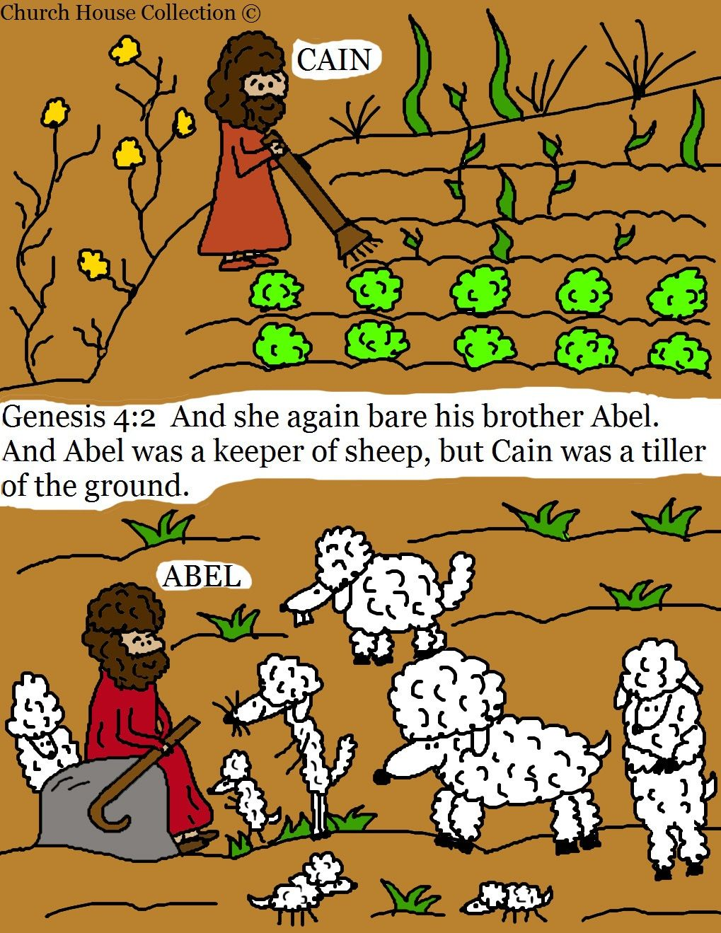 church house collection blog cain and abel coloring pages - Bible Coloring Pages Cain Abel