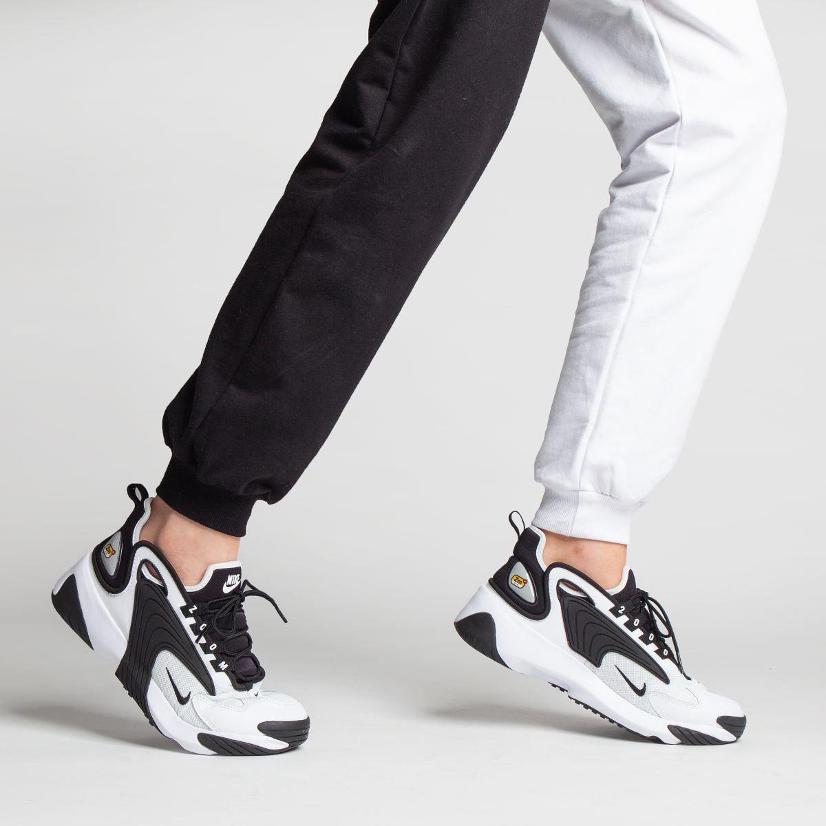 Womens White & Black Nike Zoom 2k Trainers | Black nikes ...