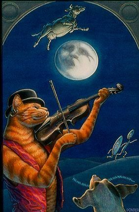 Hey diddle diddle the cat and the fiddle. .... moon