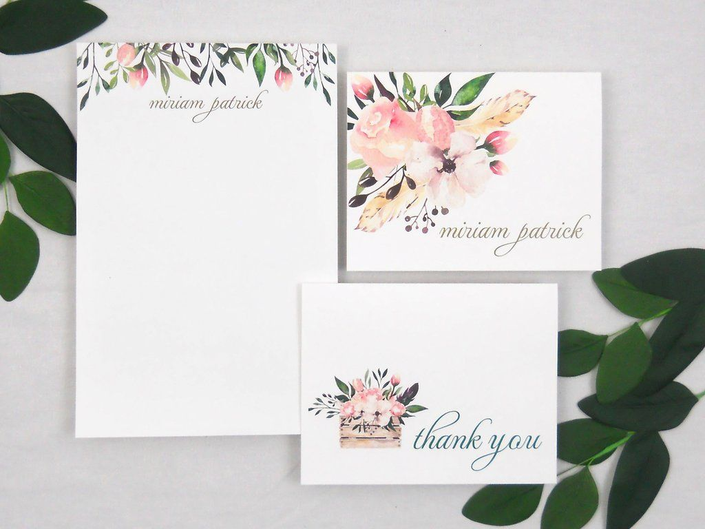 Flora Stationery Gift Set  Custom Stationery Flora And